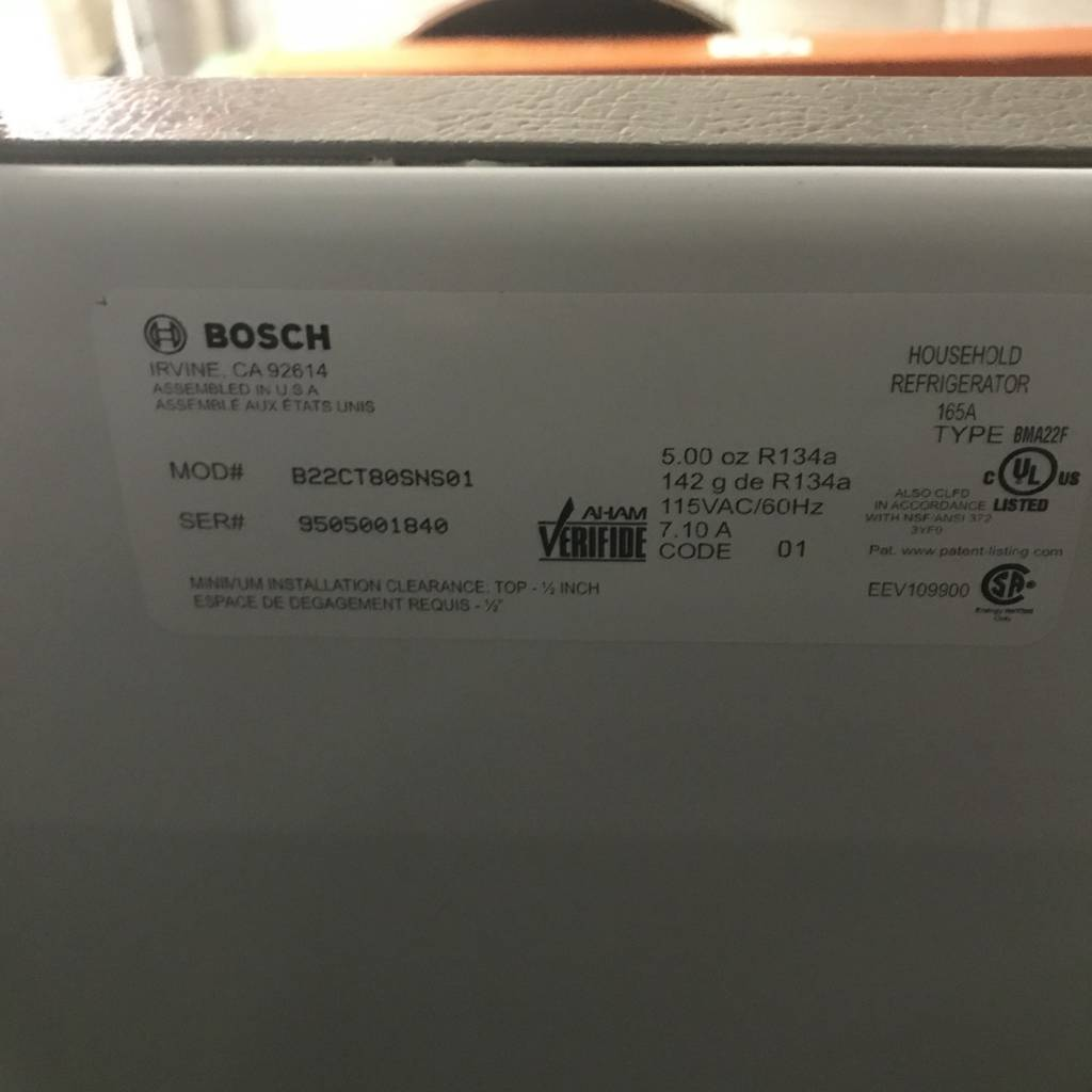 Bosch Double Door Refrigerator #PIN