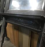 MidCentury Dark Cherry Fireplace Mantle #PIN