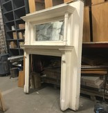 Mid-Century White Fireplace Mantle #PIN