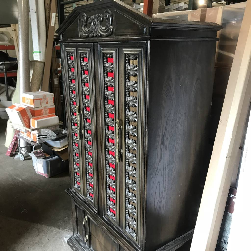 Gothic Wardrobe With Brass Rope Handle #YEL