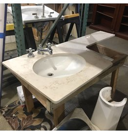 L Shaped Kohler Marble Vanity Top #YEL