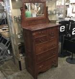 Antique Cherry Dresser With Mirror #YEL
