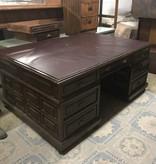 Leather Top Antique Executive Desk #BLU