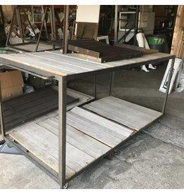 Iron Framed Portable Work Tables#BLU