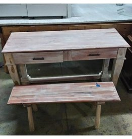 Buffet Table & Bench Set#BLU