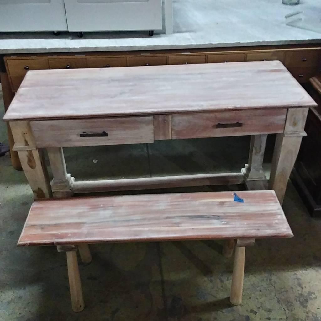 Buffet Table & Bench Set#BLU