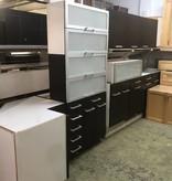 Dark Oak Veneer Modern Cabinet Set #ORA