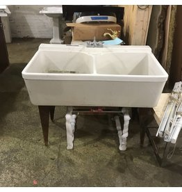 Crane Cast Iron Double Sink #ORA