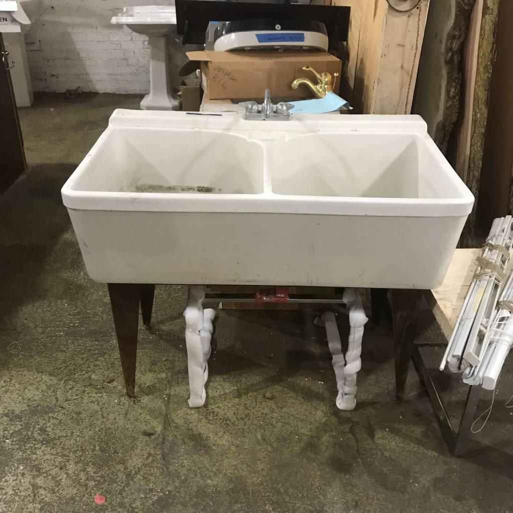 Crane Cast Iron Double Sink #ORA