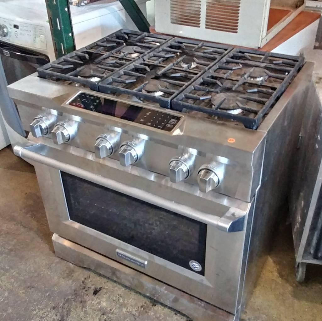 Kitchen-Aid 36'' Dual-fuel Freestanding Range#ORA