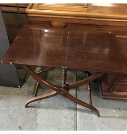 Dark Oak Antique Folding Table #RED