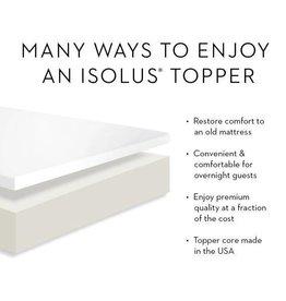 """Isolus 2"""" Latex Foam Mattress Topper"""