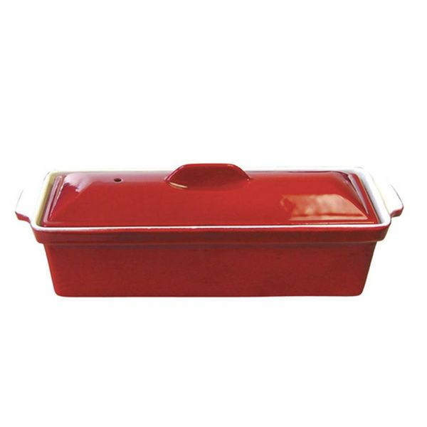 Le Cuistot Enameled Cast Iron Terrine 30 cm Red