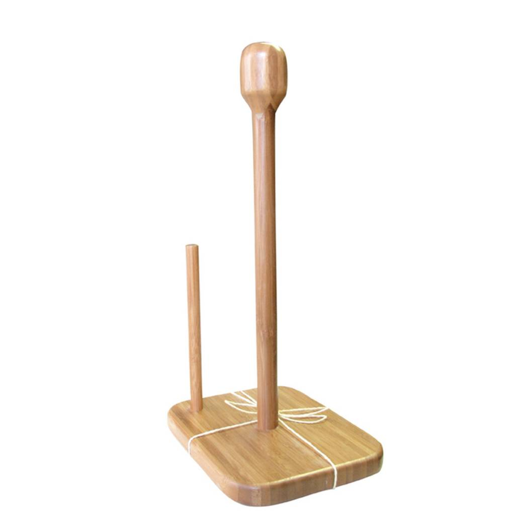 Green Bamboo Paper Towel Stand - Ares Cuisine