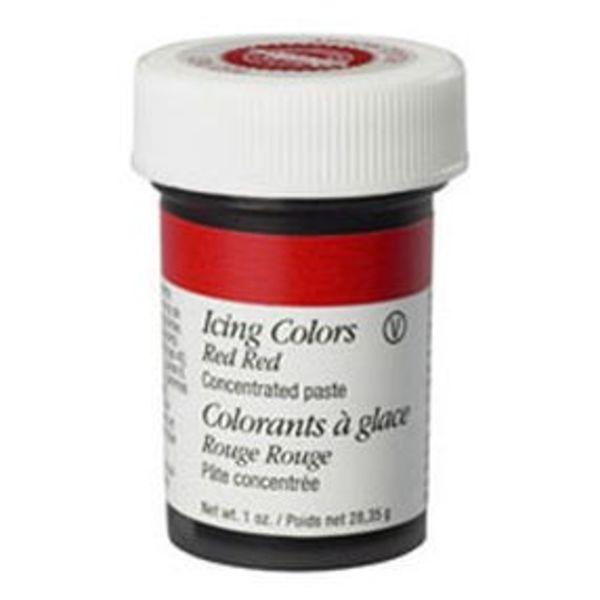 Colorant à glaçage rouge-rouge de Wilton