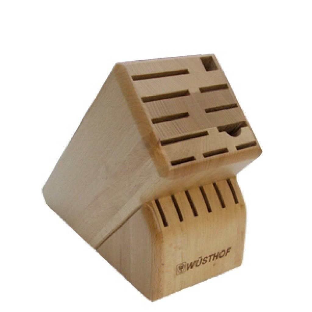 Bloc couteaux 17 places en bois d 39 h tre de w sthof ares cuisine - Bloc en bois pour couteau ...