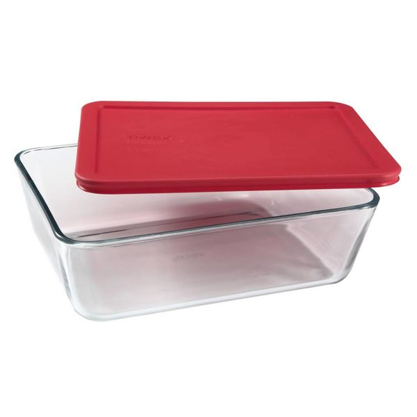 Pyrex Simply Store 2.64L Rectangular Dish with Red Lid