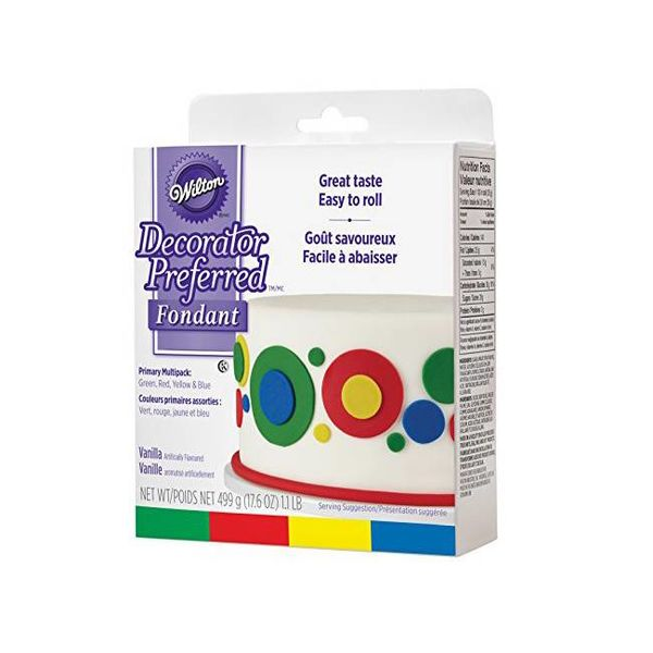 Wilton Decorator Preferred Fondant - Primary Colour 4-Pack