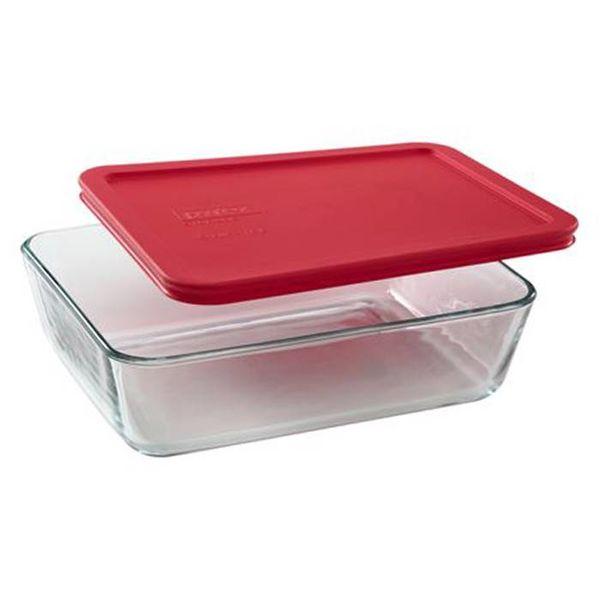"""Plat rectangulaire 1,44 L avec couvercle rouge """"Simply Store"""" de Pyrex"""