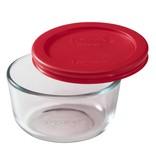 """Pyrex Plat rond 250 ml avec couvercle rouge """"Simply Store"""" de Pyrex"""