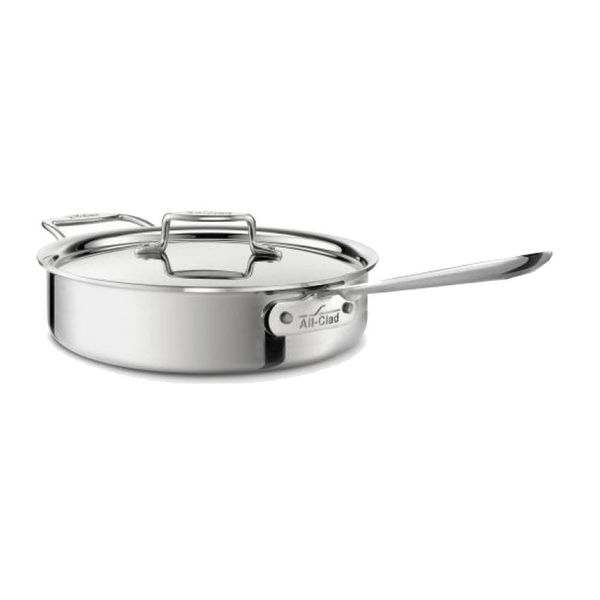 All-Clad Polished D5 3.8 L Saute Pan with Lid