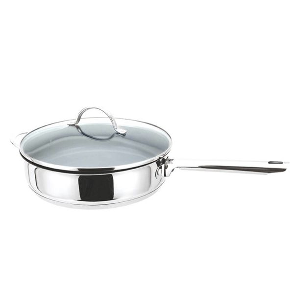 Cool Kitchen Pro Green Cuisine Sauté Pan with Glass Lid 32 cm