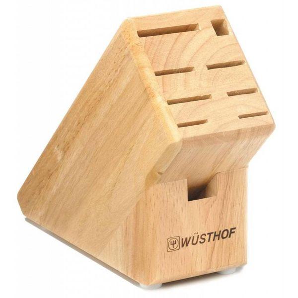 Bloc à couteaux à 9 places en bois d'hêtre de Wüsthof