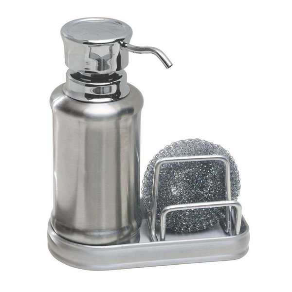 Distributeur à savon avec éponge à récurer York Ergo de InterDesign