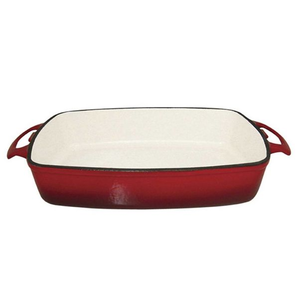 Le Cuistot Enameled Cast Iron Roaster 35 cm x 26 cm Red 2 Tone
