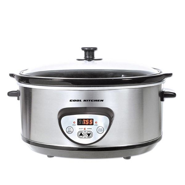 Cool Kitchen Pro Stainless Steel Digital Slow Cooker 6,5 L
