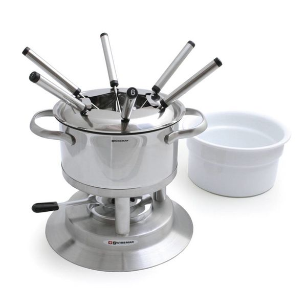 Swissmar Arosa 11 Piece Stainless Steel Fondue Set