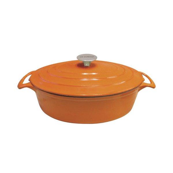 Cocotte ovale en fonte émaillée de Le Cuistot 8 L / Orange