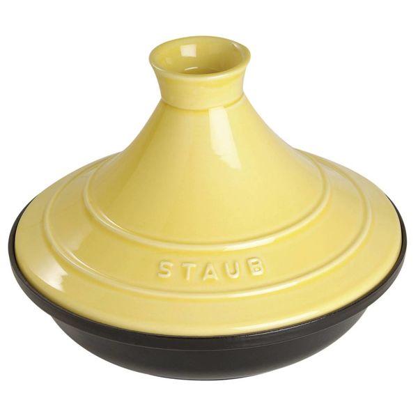 Tagine Staub 28 cm / Fonte / Citron et noir