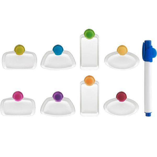 Ensemble de 8 marques-verres avec marqueur de Trudeau