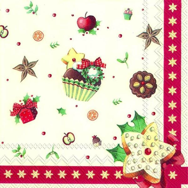 Christmas Bakery Allover Luncheon Napkins