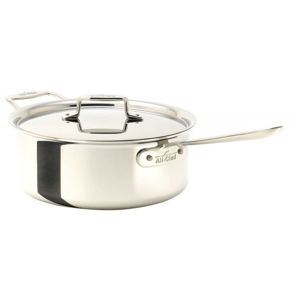 All-Clad Polished D5 3.8 L Sauce Pan with Lid