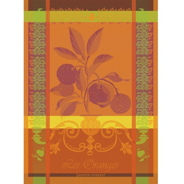 Garnier-Thiebaut Oranges Kitchen Towel