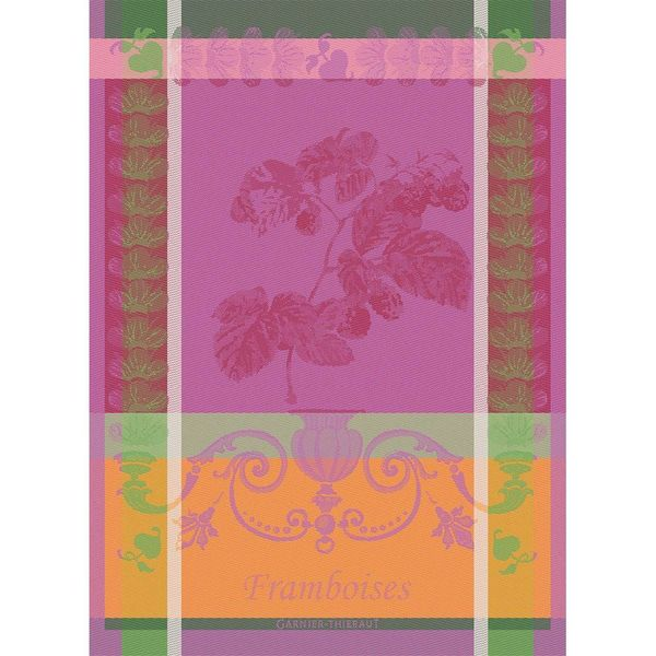 Garnier-Thiebaut Raspberry Kitchen Towel