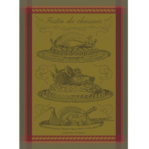 Garnier-Thiebaut Feast of Hunter Kitchen Towel