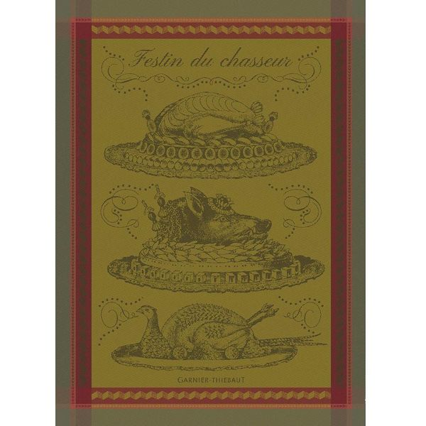 Garnier-Thiebaut Feast of Hunter Kitchen Towel