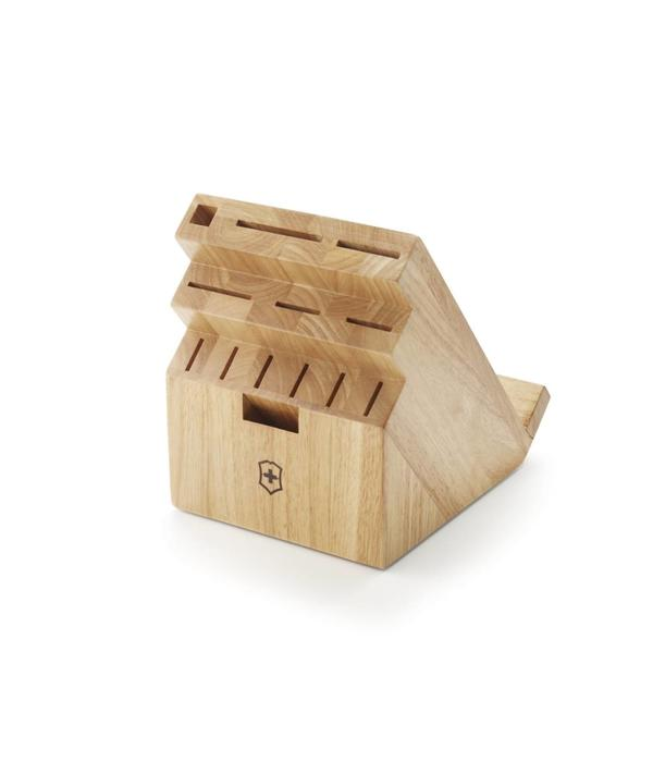 Bloc couteaux pivotant en bois clair 13 places ares cuisine - Bloc en bois pour couteau ...