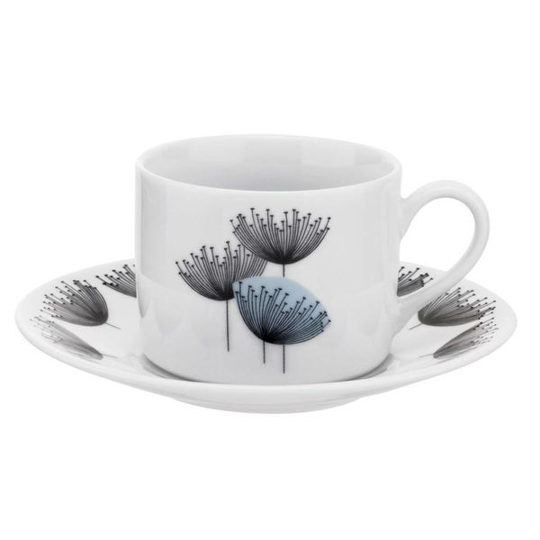 "Portmeirion ""Dandelion Clocks"" Teacup and Saucer Set"