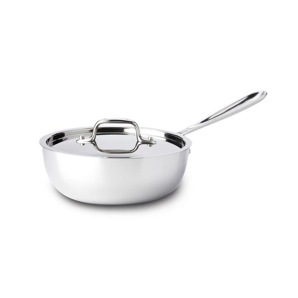 All-Clad Stainless Steel Saucier Pan with Lid 1,9 L