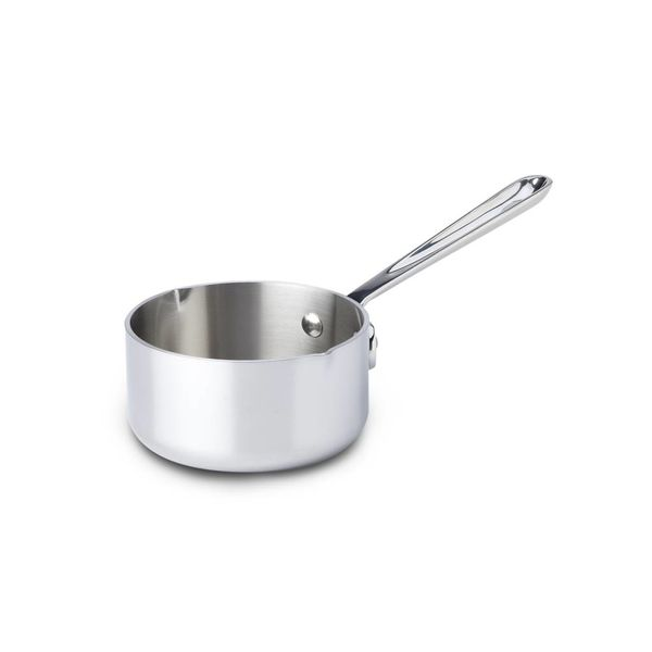 All-Clad 0.5L Stainless Steel Butter Warmer with pour spouts