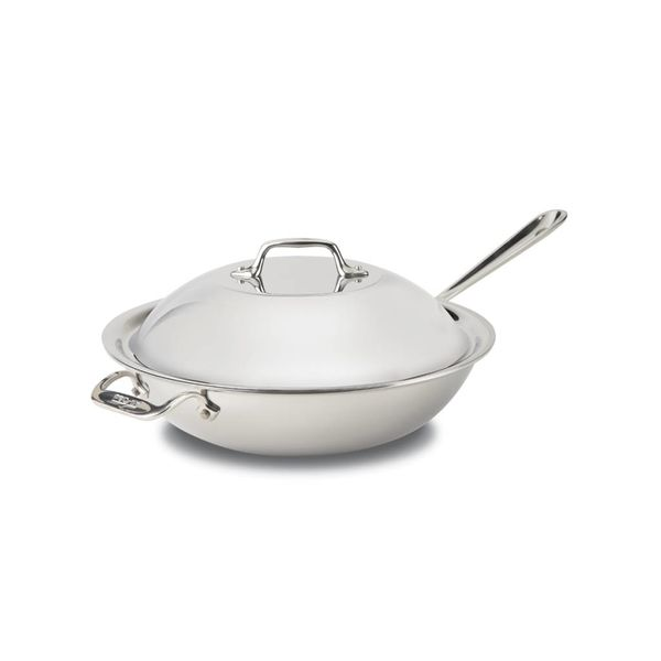 All-Clad 30 cm Stainless Steel Chef's Pan with lid