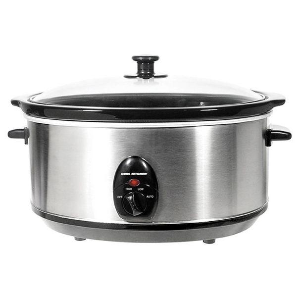 Mijoteuse en acier inoxydable de Cool Kitchen Pro 6.5 L