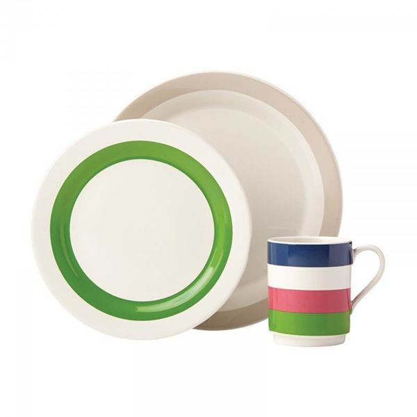 Kate Spade Rainey Stripe 12 pc Dinnerware Set