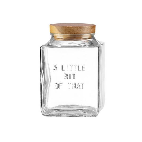 "Kate Spade ""Little Bit of That""  Medium Glass Canister"