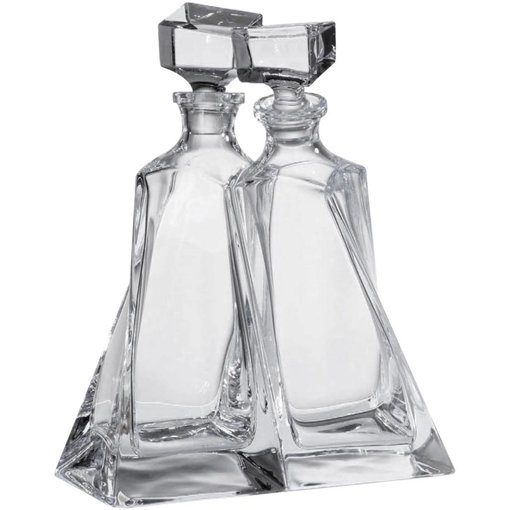 Trudeau Pair of Twin Decanters