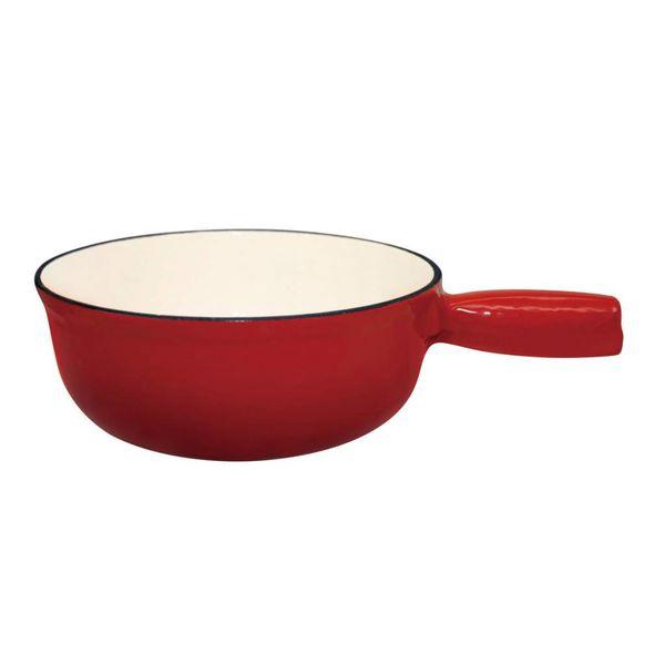 Pot à fondue en fonte émaillée de Le Cuistot 21 cm / Rouge 2 tons